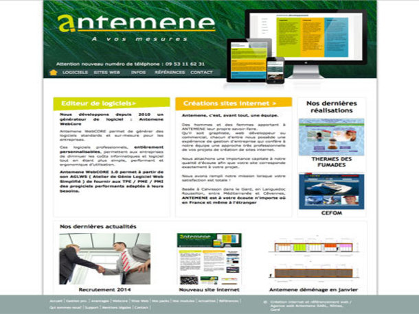 Antemene, créateur de sites web à Nîmes, Gard   Antemene, Informatique et Internet , CALVISSON