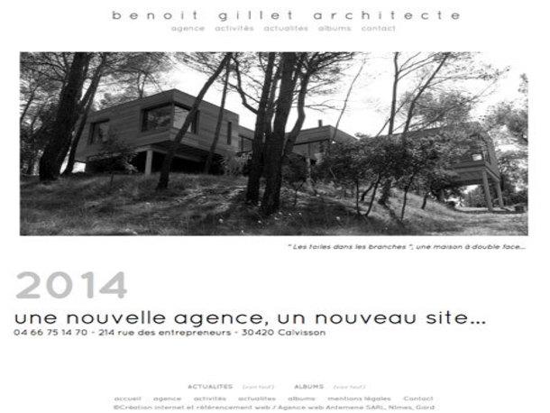 Antemene, créateur de sites web à Nîmes, Gard | Benoit Gillet Architecte, Construction , CALVISSON