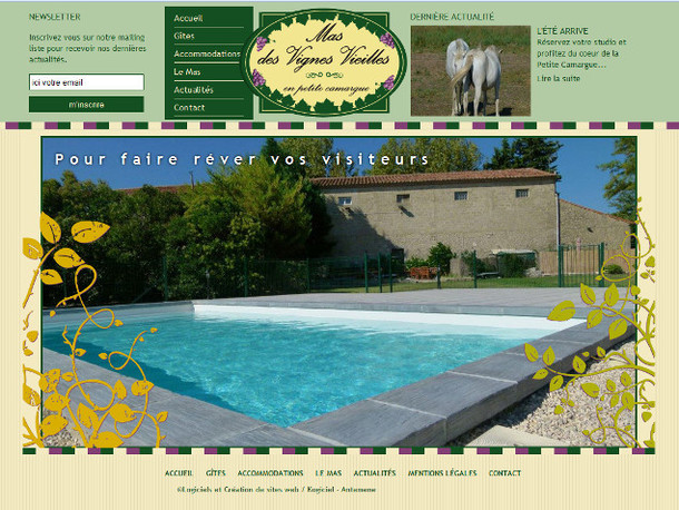 Antemene, créateur de sites web à Nîmes, Gard | Mas des Vignes Vieilles, e-commerce , -1