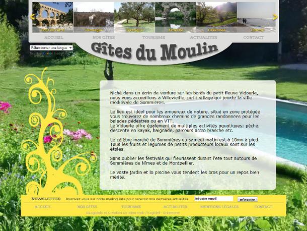 Antemene, créateur de sites web à Nîmes, Gard | Gîtes du Moulin, e-commerce , -1