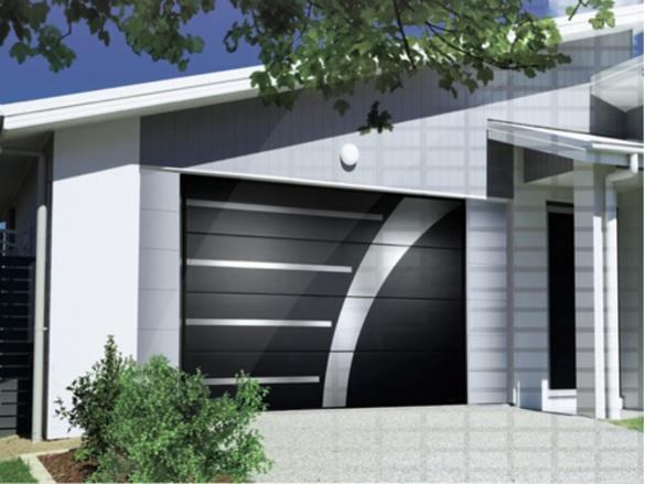 Porte de garage sectionnelle plafond (Gamme XOOZ)